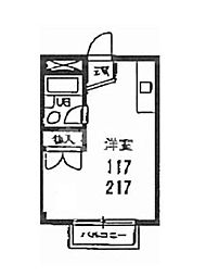 東京都江戸川区北葛西2丁目の賃貸マンションの間取り