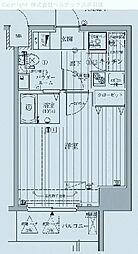 東京都荒川区西日暮里の賃貸マンションの間取り