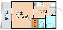 リブレア美野島[1階]の間取り