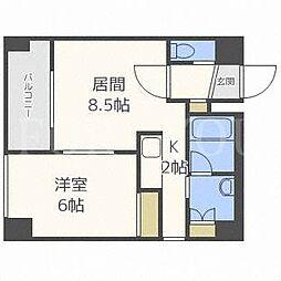北海道札幌市白石区菊水上町二条4丁目の賃貸マンションの間取り