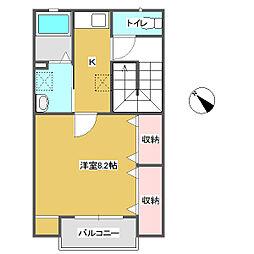 apartment IN WEST[201号室]の間取り