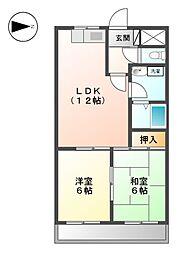MAJESTYハイツ御成[12階]の間取り