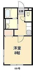 カーペンター21[1階]の間取り