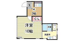 松山ビル[101号室]の間取り