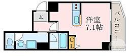 京阪本線 森小路駅 徒歩1分の賃貸マンション 5階1Kの間取り