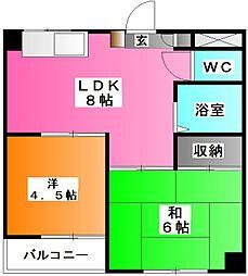 メゾン三晴[1階]の間取り
