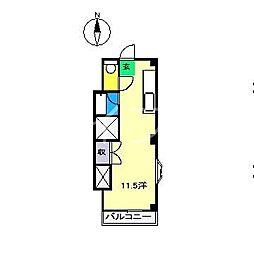 リバーセブン[2階]の間取り