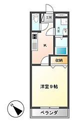 クレストール山王 弐番館[1階]の間取り