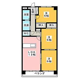 カンファタブル[3階]の間取り
