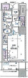 東京メトロ千代田線 北千住駅 徒歩3分の賃貸マンション 5階1Kの間取り