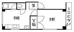 東京都品川区南品川6丁目の賃貸マンションの間取り