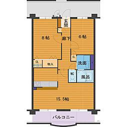 ハートフルマンション Villa Luna[B303号室]の間取り
