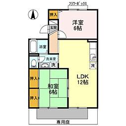 コンフォート藤沢[1階]の間取り