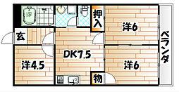シャトレ片野Ⅱ[2階]の間取り