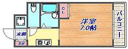 ロジュマン六甲[2階]の間取り