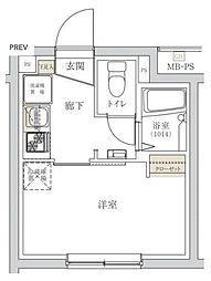 東京メトロ丸ノ内線 新宿三丁目駅 徒歩5分の賃貸マンション 3階1Kの間取り