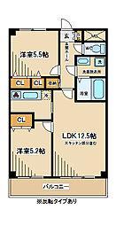 東京都府中市府中町2丁目の賃貸マンションの間取り