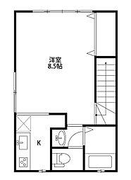 エトワール長潟[2階]の間取り