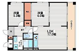 シャトー南船場[7階]の間取り