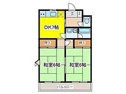 ルミエール本宿四番館[2階]の間取り