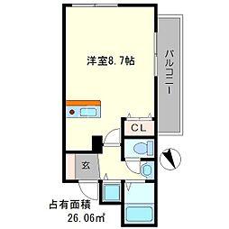 プレサンス京大東[3階]の間取り