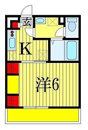 千葉県習志野市本大久保3丁目の賃貸マンションの間取り