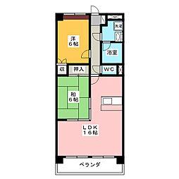メゾンドヨサミB棟[2階]の間取り