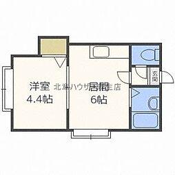 フラット・J麻生B棟[3階]の間取り