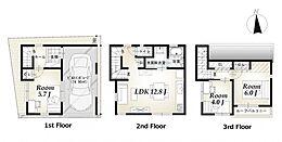 A区画建物参考プラン:間取り/3LDK、延床面積/70.31m2、建物参考価格/1900万円(税込)