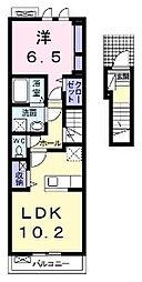 アルドーレ東合川A[202号室]の間取り