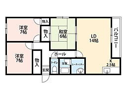 北海道札幌市豊平区豊平四条12丁目の賃貸アパートの間取り