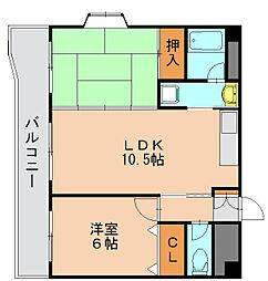 ハピネス岩崎[6階]の間取り