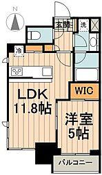東京メトロ東西線 九段下駅 徒歩3分の賃貸マンション 3階1LDKの間取り
