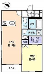 習志野台レジデンス[1階]の間取り