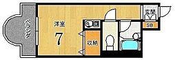リヴァク鴨川[206号室]の間取り