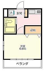 メゾン鶴ヶ島[101号室号室]の間取り