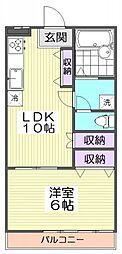 10129[4階]の間取り
