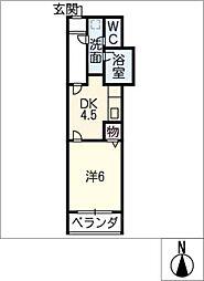 Kスクエアサウス[2階]の間取り