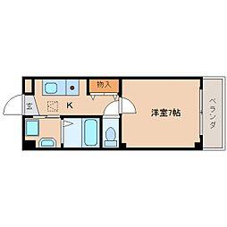 奈良県奈良市菅原町の賃貸マンションの間取り