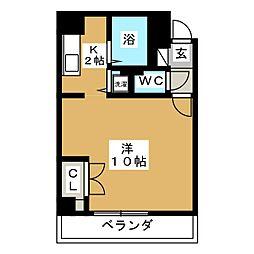 A−ONE[4階]の間取り