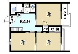 ルーブルハウス[2階]の間取り