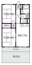 井荻フラット[1階]の間取り