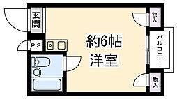 セントラル武庫川[302号室]の間取り