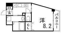 レシェンテ六甲[5階]の間取り