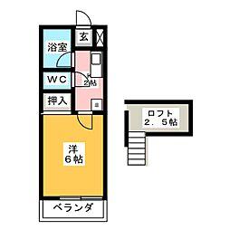 タウンコーポ6[1階]の間取り
