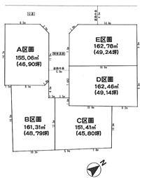 藤沢市宮原 条件無売地E区画 全5区画