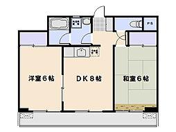 川坂マンション[404号室]の間取り