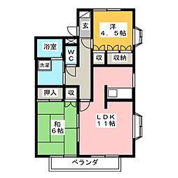 パークハイツ[2階]の間取り
