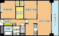 ラフィーネ20[4階]の間取り