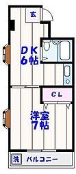 市川ロイヤルマンション[303号室]の間取り